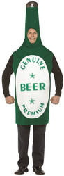 BEER BOTTLE green glass alcohol frat party adult mens funny halloween costume