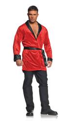 Hugh Hefner Playboy Smoking Jacket Adult Men's Costume