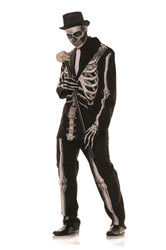 Mens Bone Daddy Skeleton Suit Costume