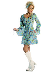Go Go Dress 70s Womens Disco Costume