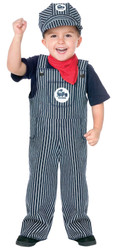Kids Train Engineer Conductor Toddler Halloween Costume