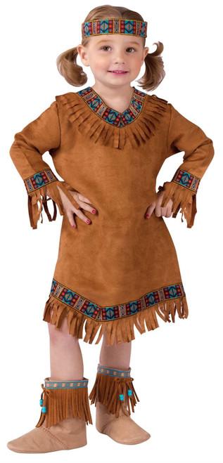 Native American Pocahontas Indian Girls Halloween Costume Toddler  sc 1 st  CostumeVille & Native American Pocahontas Indian Girls Halloween Costume Toddler ...