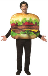 Adult CHEESEBURGER burger halloween costume Rasta Imposta One Size