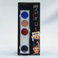 Clown Professional Makeup Set 5 Color Palette by Mehron