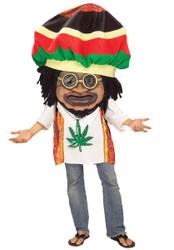 RASTA MON mascot funny marley fest jamaica reggae parade adult halloween costume