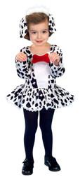 DALMATIAN DOG DRESS cruella de ville toddler puppy girls halloween costume 2T 4T