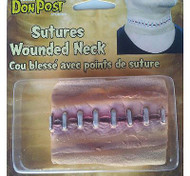 NECK WOUND sutures adult stiches costume halloween by Don Post