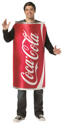 red COCA COLA CAN adult funny mens womens soda halloween costume ONE SIZE