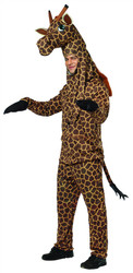 GIRAFFE adult funny mens womens animal zoo safari halloween costume ONE SIZE
