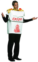 CHINESE TAKE OUT food mens womens adult funny costume