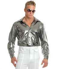 Silver Nail Head Disco Shirt