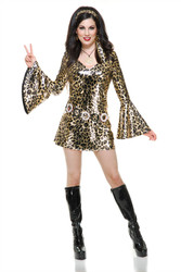 Leopard Disco Diva Costume Womens