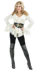 South Sea'S Pirate Blouse Womens Adult Costume Accessory