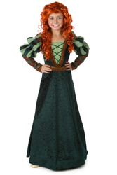 Forest Princess Brave Merida Girls Costume