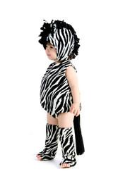 Zaney Zebra Romper w/ Hood