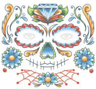 Candy Skull Face Temporary Tattoo Tinsley Transfers