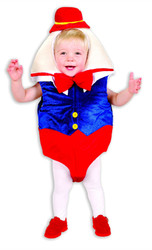 HUMPTY DUMPTY story book boys kids infant baby egg halloween costume 6M 18M