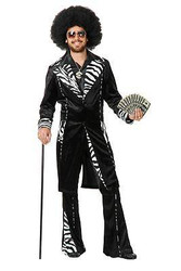 MAC DADDY pimp suit jacket gangster rapper mens halloween costume MEDIUM