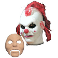 Evil Clown Face Foam Latex Prosthetic Theater Appliance