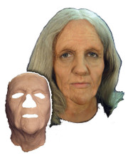 Old Woman Face Foam Latex Prosthetic Theater Appliance