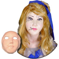 Porcelain Doll Face Foam Latex Prosthetic Theater Appliance