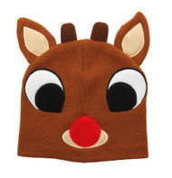 Christmas Rudolph the Red Nosed Reindeer Knit Beanie