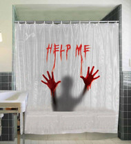 Help Me Bloody Shower Curtain