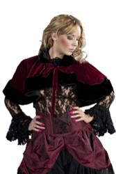 Victorian Bolero Shrug Velvet / Black Fur