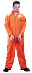 Busted Prisoner Jumpsuit Adult Costume