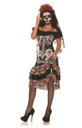 Queen of the Dead Senorita Costume Dress