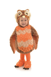 Plush Autumn Owl Toddler Costume