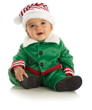 Elf Boy Velvet Christmas Toddler Costume