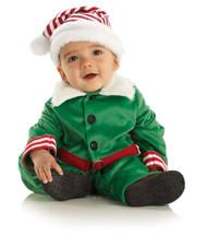 Elf Boy Velvet Christmas Toddler Costume