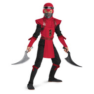 Ninja Costume Boys Deluxe Red Viper Halloween Costume