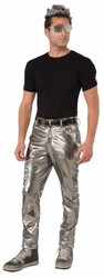 Silver Futurisitic Mens Pants Costume