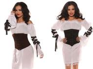 Womens Corset Waist Cincher Costume Accessory