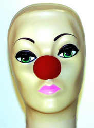 "1.5"" RED CLOWN NOSE rudolf christmas funny kids adult party costume accessory"