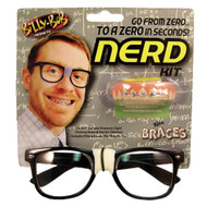 Billy Bob Nerd Kit Glasses Black Frame Tape Fake Teeth Braces
