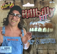Billy Bob Hillbilly Kit Includes Hat & Teeth Halloween Costume Set
