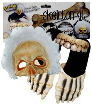 Billy Bob Skeleton Kit Sandals Teeth Afro Mask Adult Halloween Costume