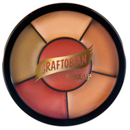 6 color Dark Corrector TATTOO COVER Wheel professional wedding makeup scar birthmark by Graftobian