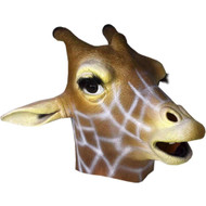 Deluxe Latex Giraffe Head Mask Adult Costume Accessory