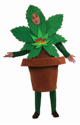 KEEP OFF THE GRASS weed pot marijuana adult mens funny costume halloween OS