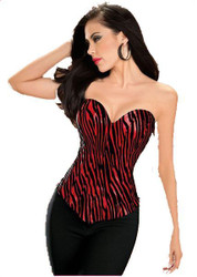 Red Sweetheart Cut Corset Womens Costume