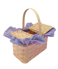 BASKET HAND BAG purse picnic kit girls gift Oz Dorothy halloween costume