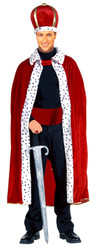 KING ROBE CROWN SET mens mardi gras prince charming royal halloween costume