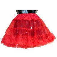 RED PETTICOAT girls kids crinoline skirt undergarment christmas holiday costume