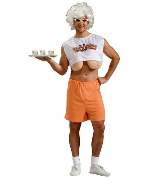 HOOTERS DROOPERS adult long boobs humor mens waitress funny halloween costume  sc 1 st  CostumeVille & HOOTERS DROOPERS adult long boobs humor mens waitress funny ...