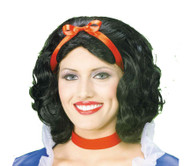 SNOW WHITE WIG short black hair womens halloween princess accessory costume