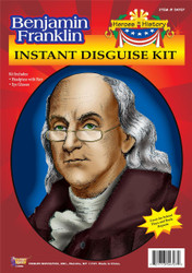 BENJAMIN FRANKLIN KIT Ben Disguise wig kids boys school play halloween costume